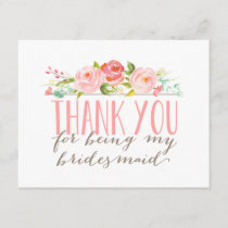 Floral Bridesmaid Thank You