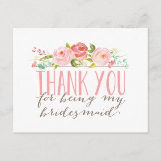 Floral Bridesmaid Thank You
