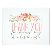 Floral Bridesmaid Thank You Card