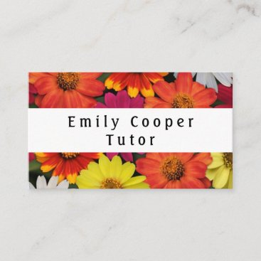 Floral Bright Colorful Business Cards Personalize
