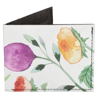 Floral brillante billeteras tyvek®