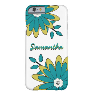 Floral brillante elegante enrrollado de Boho con Funda De iPhone 6 Barely There