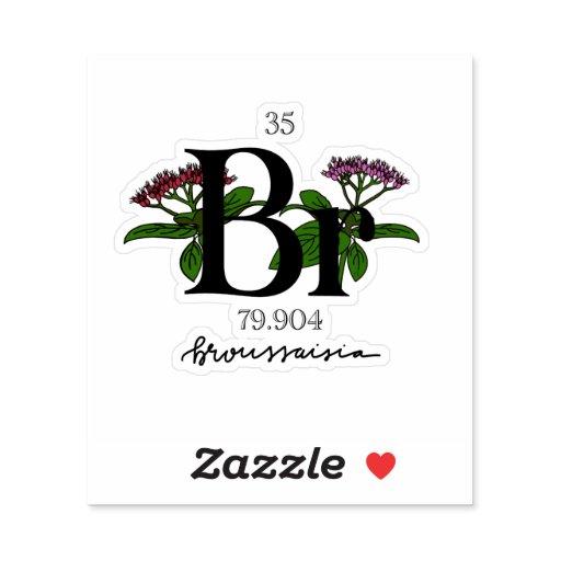 Floral Bromine Element Sticker