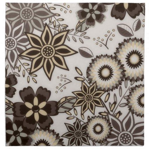 Floral Brown American MoJo Napkins