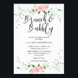 """Floral Brunch and Bubbly Bridal Shower Invitation<br><div class=""""desc"""">More pretty brunch and bubbly bridal shower invitations in the Little Bayleigh Store! We have used artwork from: www.createthecut.com</div>"""