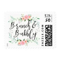 Floral Brunch and Bubbly Bridal Shower Stamp