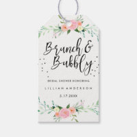 Floral Brunch and Bubbly Bridal Shower Tags