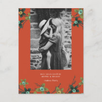 Floral Buds Holiday Postcard