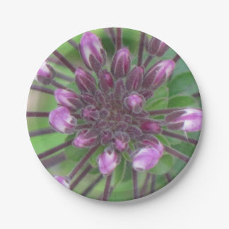 Floral Buds Paper Plate