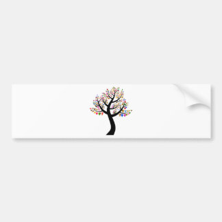 floral bumper sticker