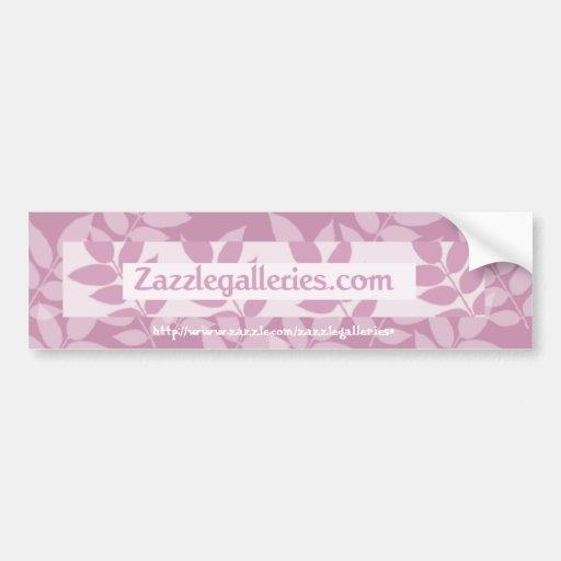 floral Bumper sticker -