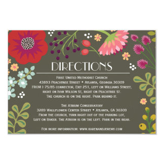 Floral Bunch Directions Card