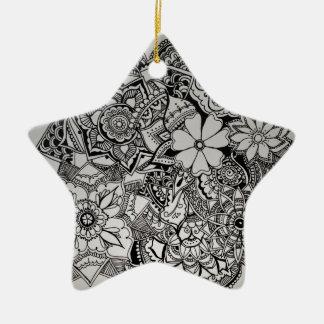 Floral Bunch Henna Ceramic Ornament