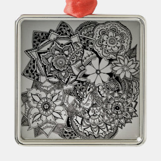 Floral Bunch Henna Metal Ornament