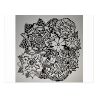 Floral Bunch Henna Postcard