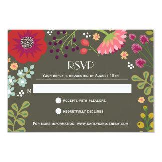 Floral Bunch RSVP Card
