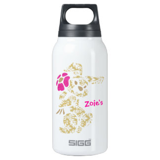 Floral Bunny Rabbit with Flower Insulated Water Bottle
