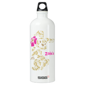Floral Bunny Rabbit with Flower Water Bottle