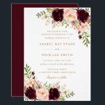 "Floral Burgundy Blush Modern Elegant Wedding Invitation<br><div class=""desc"">Floral Burgundy Blush Modern Elegant Wedding Invitation</div>"