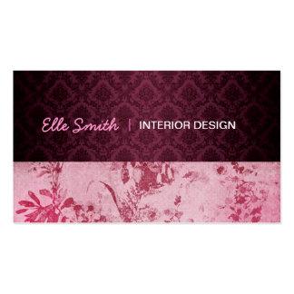 Floral Burgundy Business Card