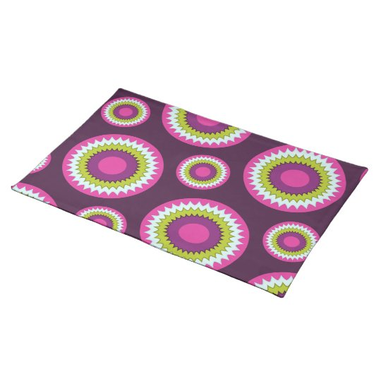 Floral Burst in Berry One Placemat