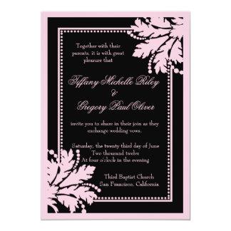 Floral Burst Wedding Invite Basic [Powder Pink]