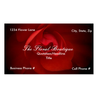 Floral business card..