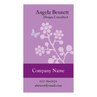 Floral Business Card Butterfly Blossom