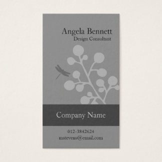 Floral Business Card Dragonfly Blossom