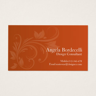 Floral Business Card Floral Swirl 1