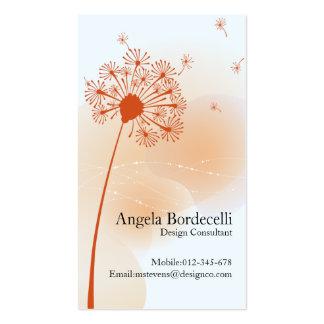 Floral Business Card Gentle Dandelion
