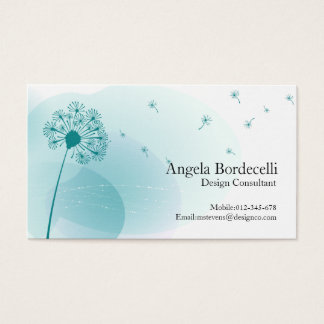 Floral Business Card Gentle Dandelion