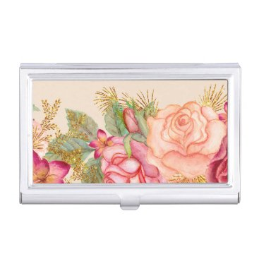 Professional Business Floral Business Card Holder