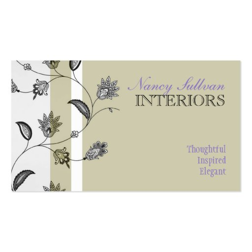 Floral Business Card Templates