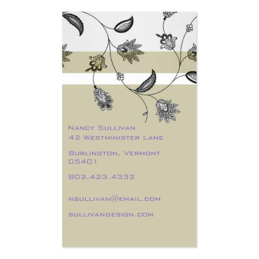 Floral Business Card Templates (back side)