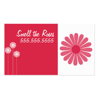 FLoral Business Cards ~ Pink