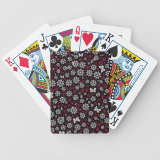Floral Butterflies Bicycle Playing Cards