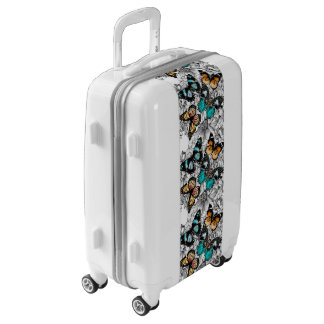 Floral Butterflies colorful sketch pattern Luggage