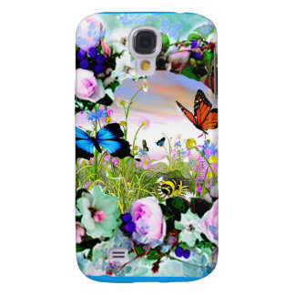 FLORAL BUTTERFLIES WILDFLOWERS ROSES SAMSUNG GALAXY S4 COVER