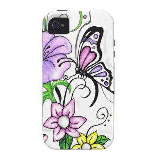 Floral Butterfly Case For The iPhone 4