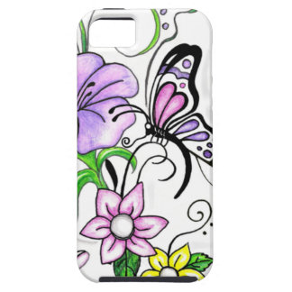 Floral Butterfly iPhone 5 Cases
