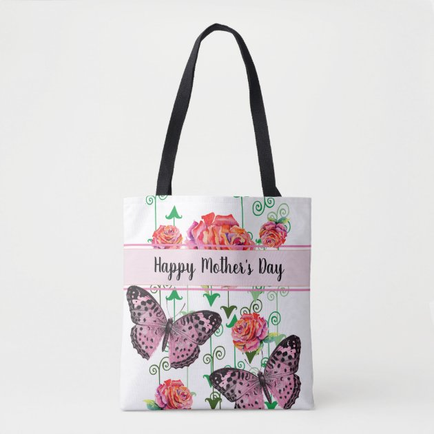 Shoulder Bag Butterfly Tote Bag Butterfly Crossbody Bag Great Gift for Mom Daughter Friend Floral Art Cottagecore Purse Mother day Gift