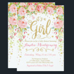 "Floral Butterfly Girl Baby Shower Invitation<br><div class=""desc"">Garden Floral Butterfly Girl Baby Shower Invitation. Perfect for spring or summer showers!</div>"