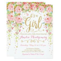 Baby girl shower invitations zazzle filmwisefo Choice Image