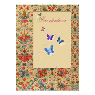 Floral Butterfly Invites