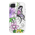 Floral Butterfly iPhone 4/4S Cases