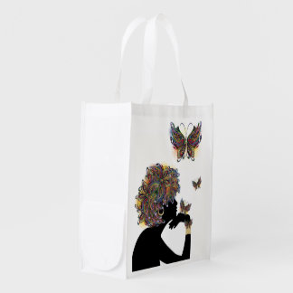 Floral Butterfly Profile Bag