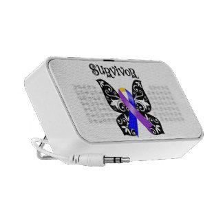 Floral Butterfly Ribbon - Bladder Cancer Survivor PC Speakers