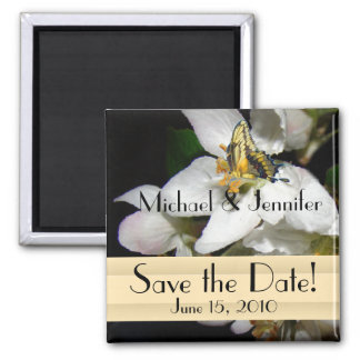Floral Butterfly Save the Date Magnet