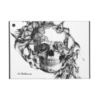 Floral butterfly skull from hand illustration case for iPad mini